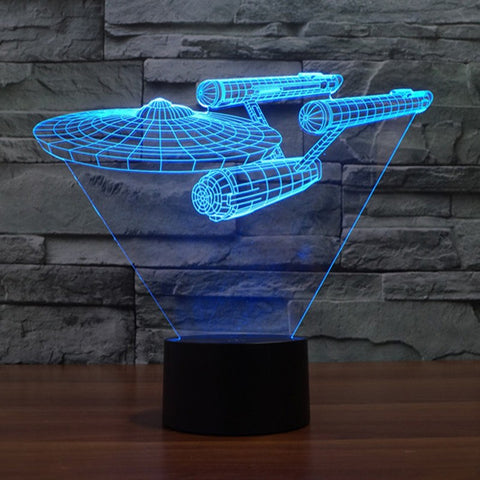 Star Trek 3D Led Light Lamp