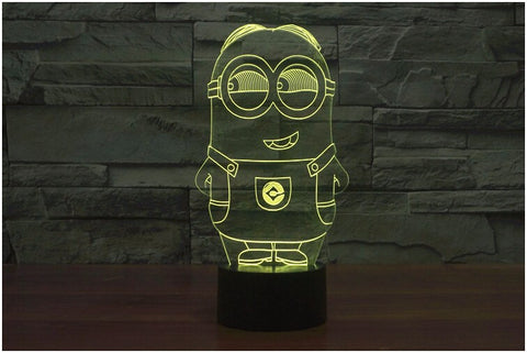 Minions Standing 3D LED Light Lamp