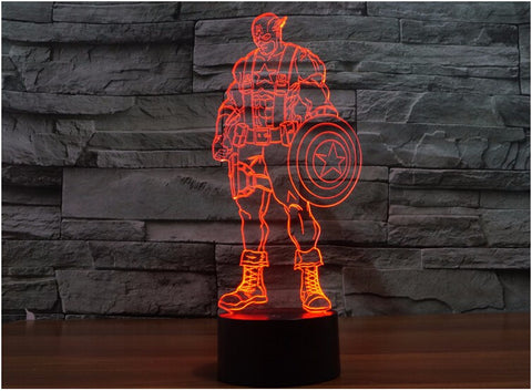 Captain America 3D LED Light Lamp