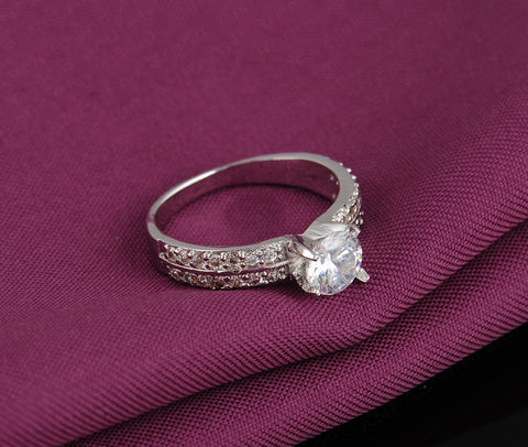 Platinum Plated Fashion Ring