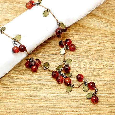 Red Cherries Fashion Necklace