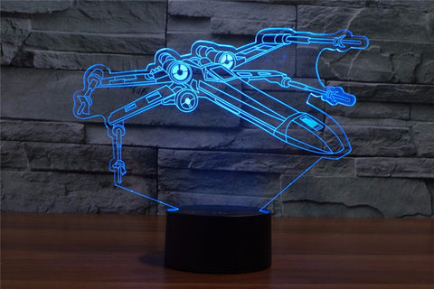 Star Wars X Wing 3D LED Light Lamp