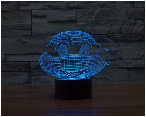 Ninja Turtles 3D LED Light Lamp