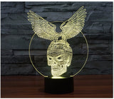 Eagle Skull 3D LED Light Lamp