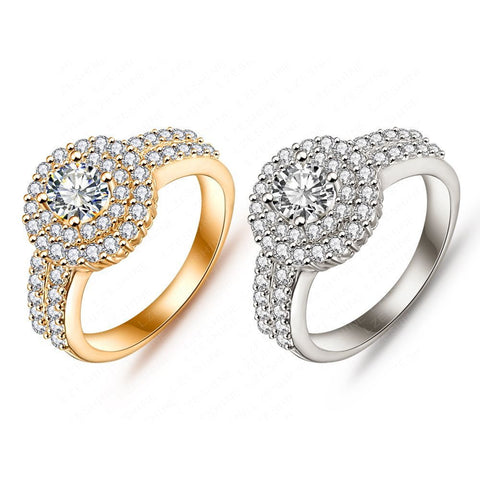Elegant Round Gold Plated Ring