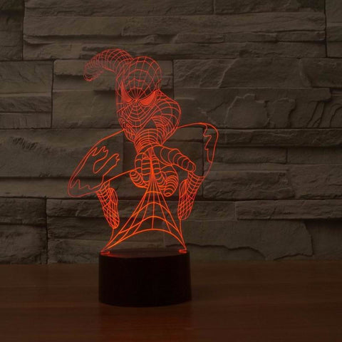 Spiderman 3D LED Light Lamp