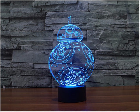 Star Wars BB-8 3D LED Light Lamp