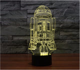 Star Wars R2-D2 3D LED Light Lamp
