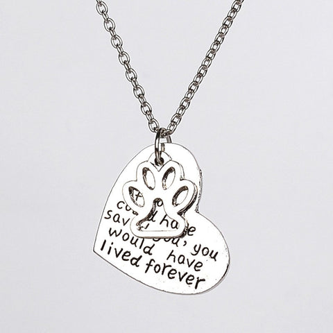 Heart Shaped Live Forever Necklace