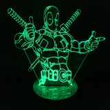 Deadpool 3D LED Light Lamp