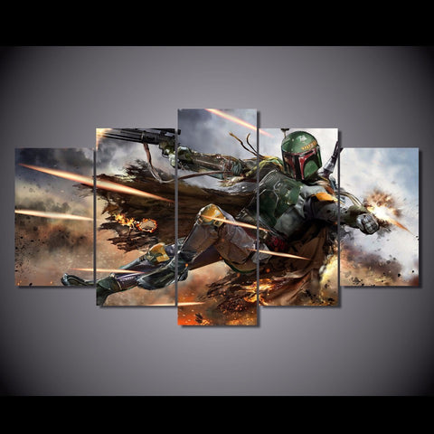 HD Printed Star Wars Boba Fett Canvas