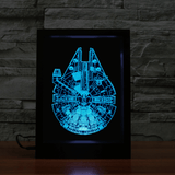 Star Wars Millennium Falcon 3D LED Frame