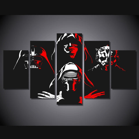 HD Printed Star Wars Dark Side Canvas