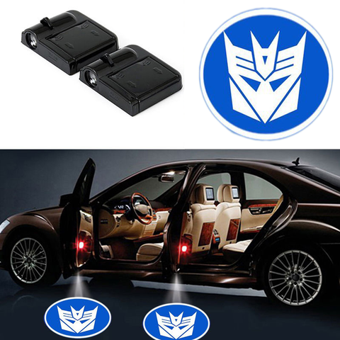 2 DECEPTICON WIRELESS LED CAR DOOR PROJECTORS