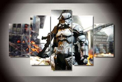 HD Printed Star Wars Stormtrooper with Gun Canvas