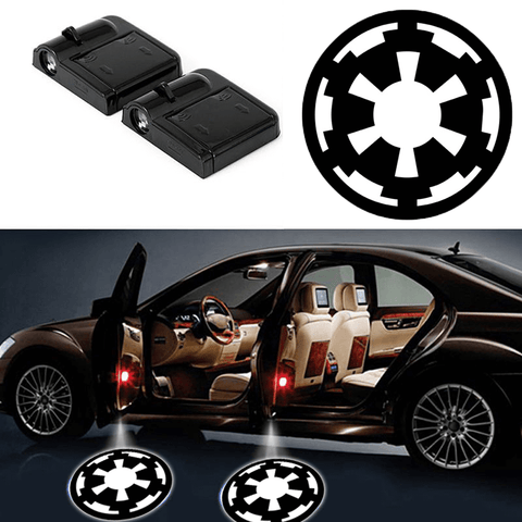 2 STAR WARS IMPERIAL INSIGNIA WIRELESS LED CAR DOOR PROJECTORS