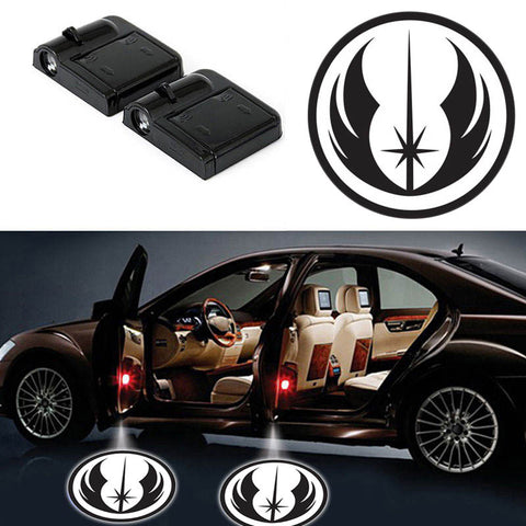 2 STAR WARS JEDI WIRELESS LED CAR DOOR PROJECTORS