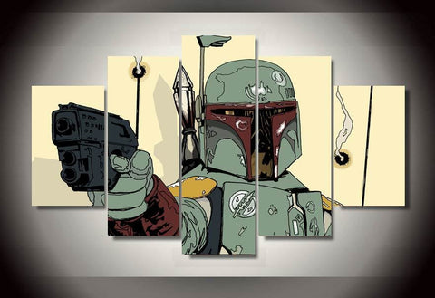 HD Printed Star Wars Boba Fett New Canvas