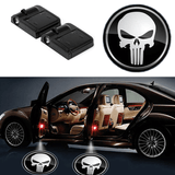 2 PUNISHER WIRELESS LED CAR DOOR PROJECTORS