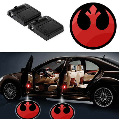 2 STAR WARS REBEL INSIGNIA WIRELESS LED CAR DOOR PROJECTORS
