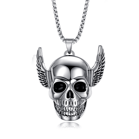 Wing Skull Necklace - Buy 1 Get 1 Free!