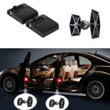 2 STAR WARS TIE FIGHTER WIRELESS LED CAR DOOR PROJECTORS