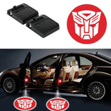 2 TRANSFORMERS AUTOBOTS WIRELESS LED CAR DOOR PROJECTORS