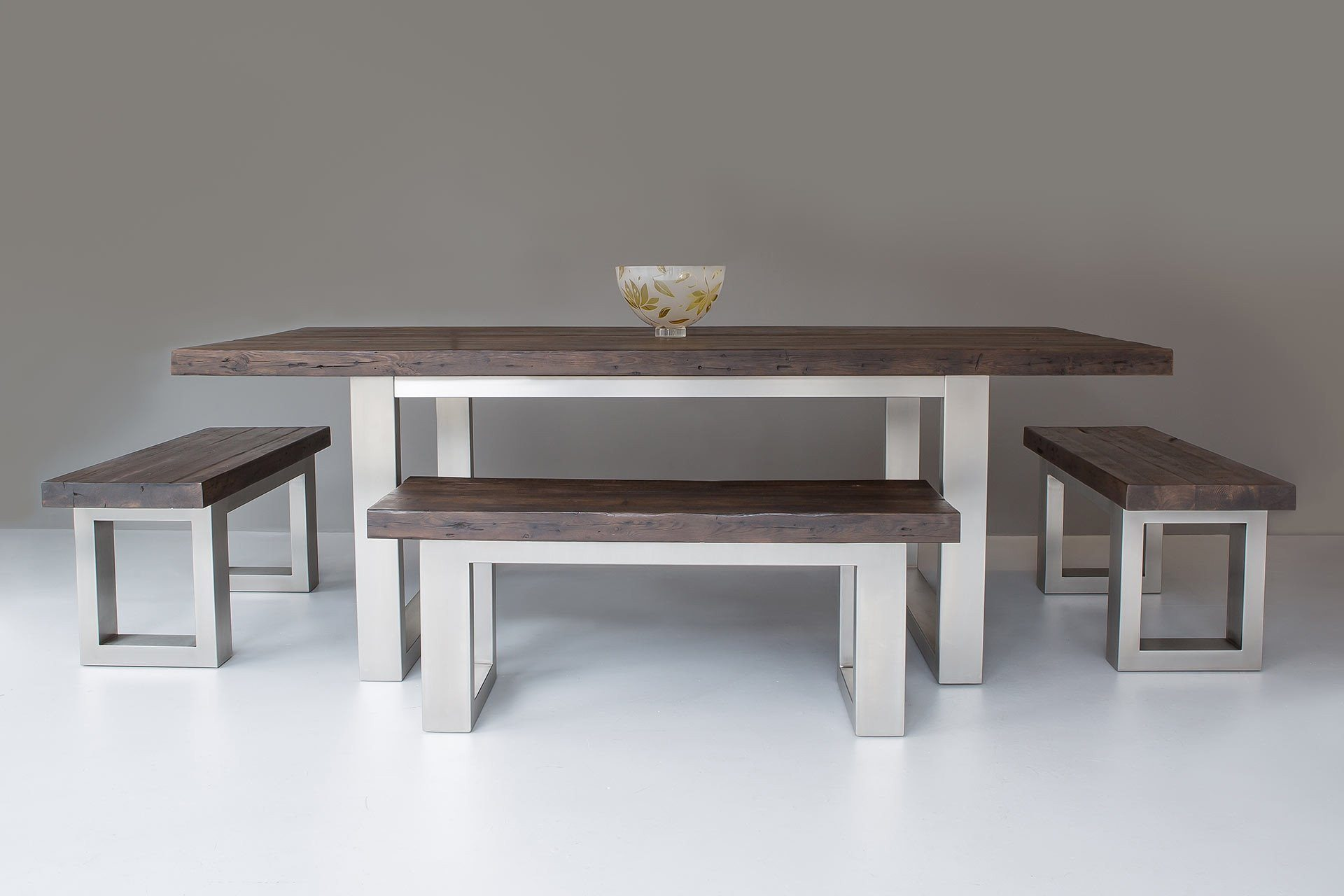 Classic 100cm End Benches & 117cm Bench With 223cm Long Overhang Table (Sold Separately)