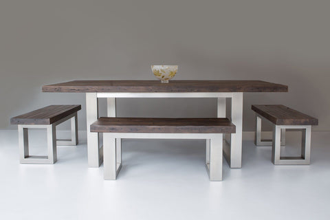 Classic 223cm Long Overhang Table With 117cm Side & 100cm End Benches