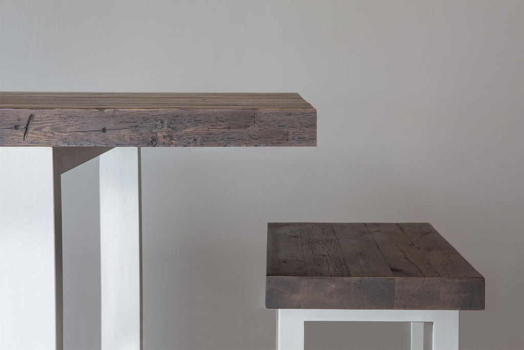 Classic Long Overhang Table With End Bench