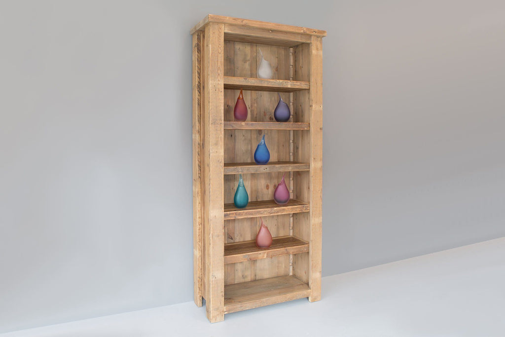 Natural 91.5cm Bookcase With 5 Adjustable Shelves