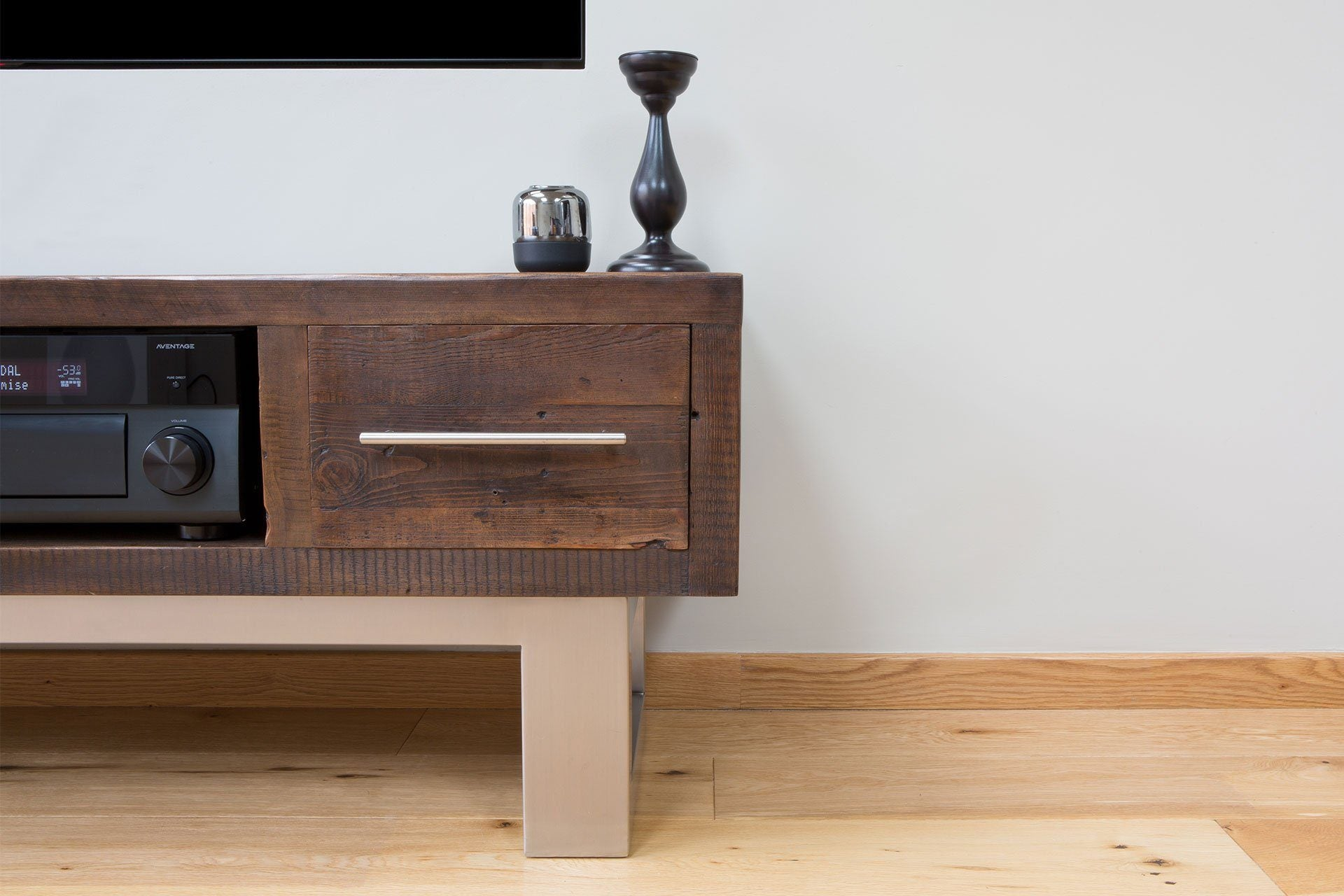 Classic 180.5cm Double TV Stand With Bar Handles