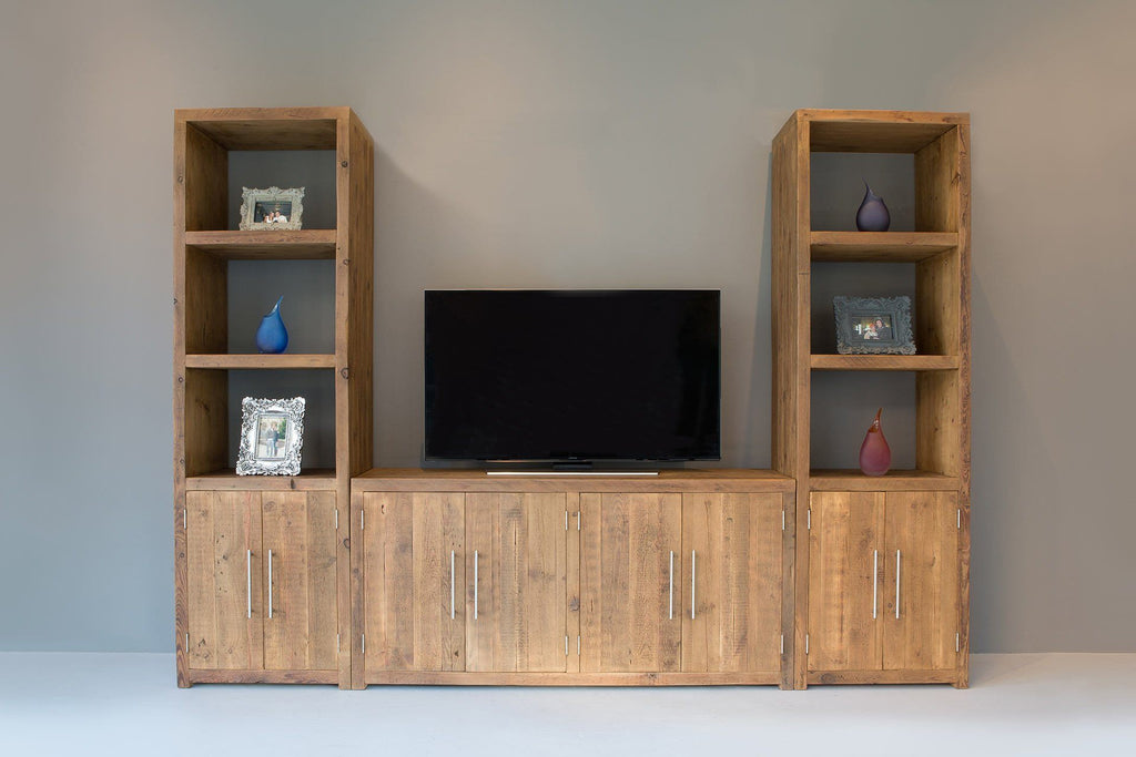 Natural 60.5cm Entertainment Units And A 116.5cm Branson Cabinet With Bar Handles (All Sold Separately)
