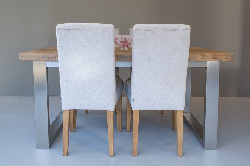 Natural 162cm Short Overhang Table with Annabel Chairs