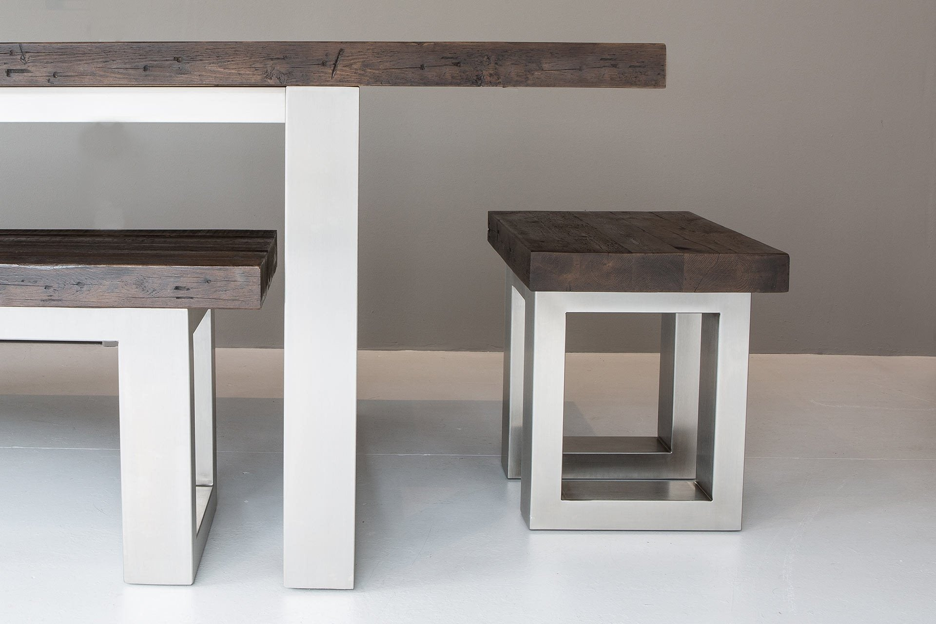 Classic Stool With Long Overhang Table (Sold Separately)