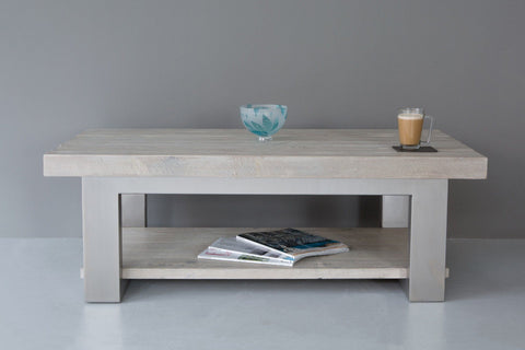 Grey 120cm x 60cm Coffee Table With Shelf