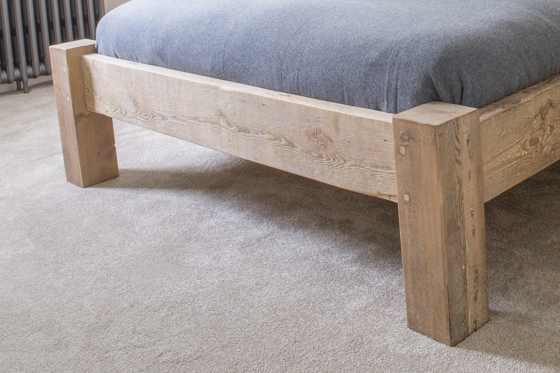 Natural Kingsize Bed Low End