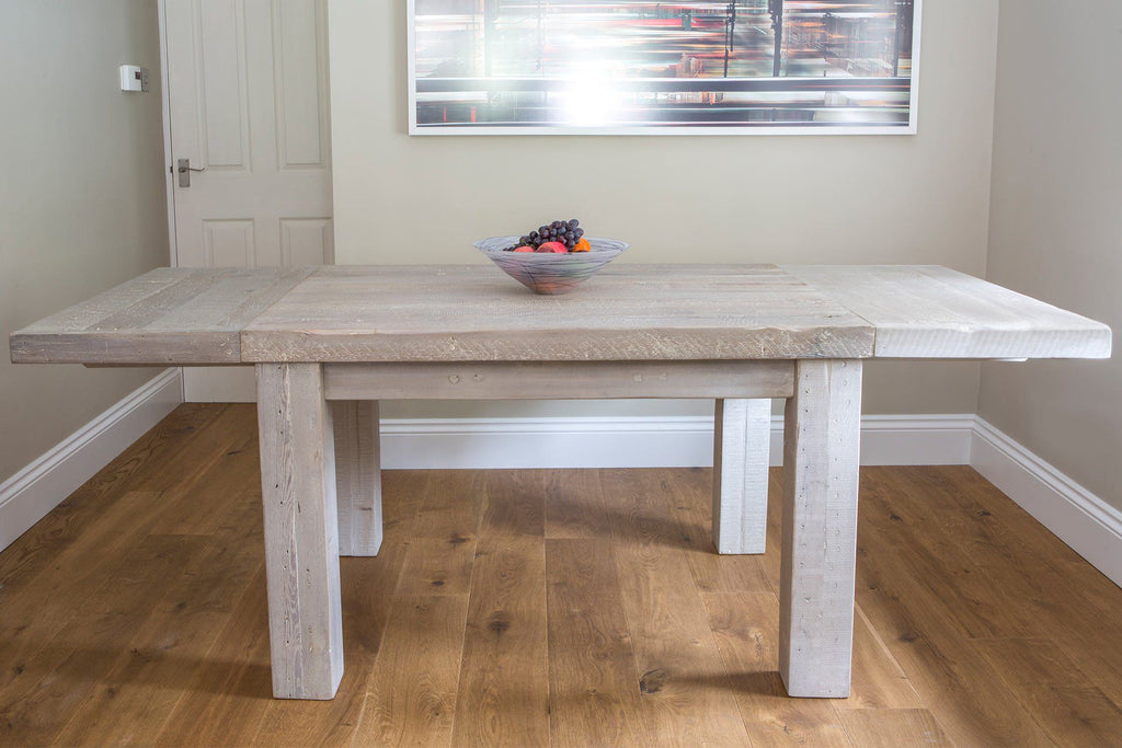 Grey 125cm Table With Extension Pieces At Both Ends