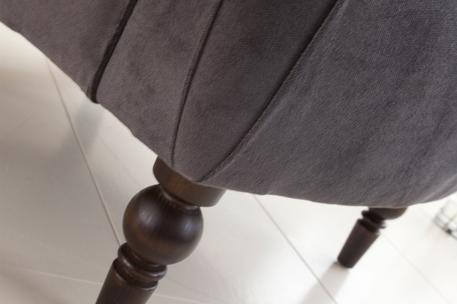 Amalfi Velvet Fabric In Graphite Colour