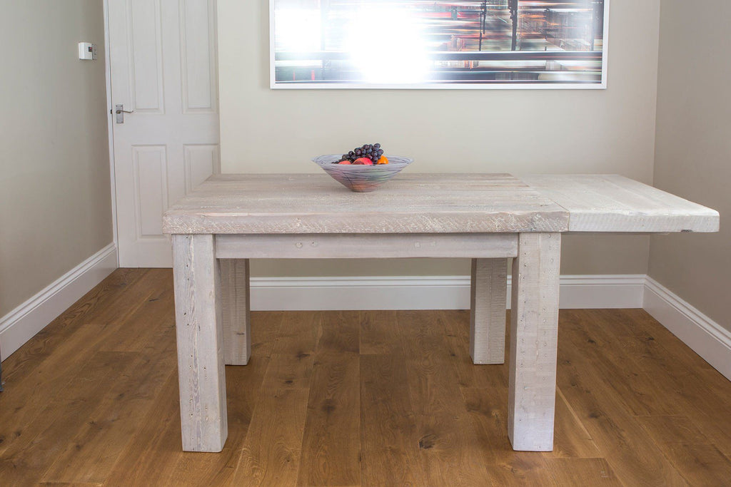 Grey 125cm Table With An Extension Piece At One End