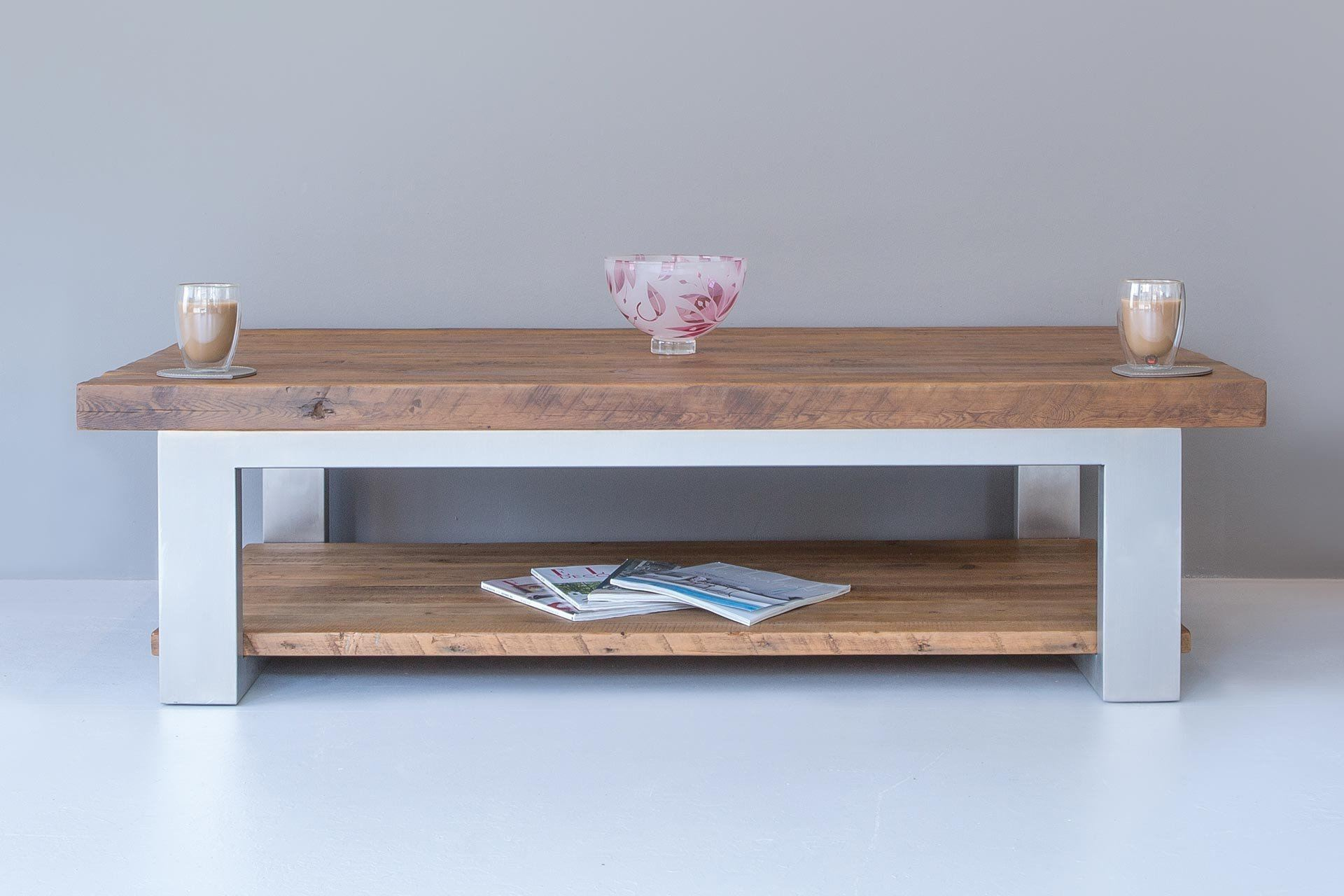 Warm 150cm x 90cm Coffee Table With Shelf