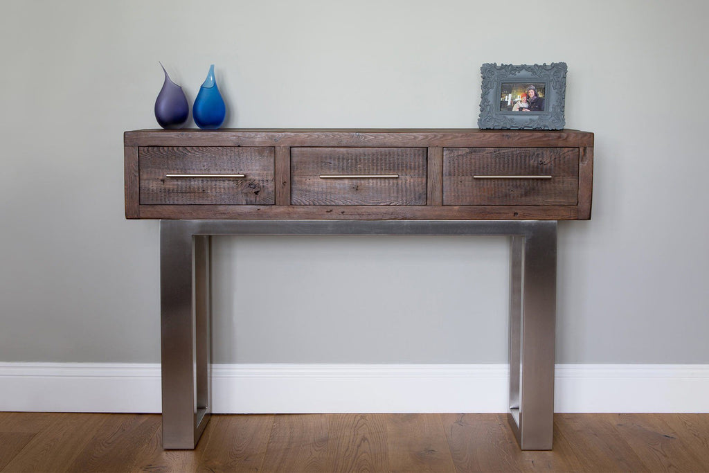 Classic 141cm Console Table With Bar Handles
