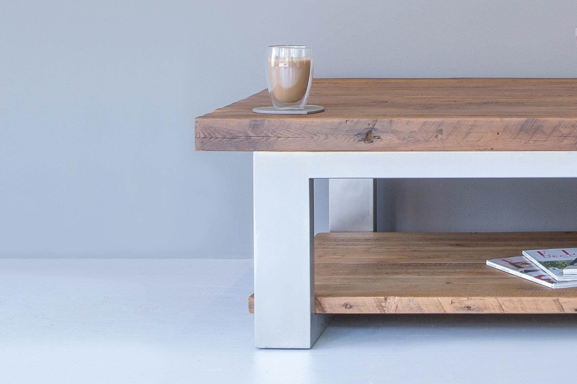 Warm Coffee Table With Shelf