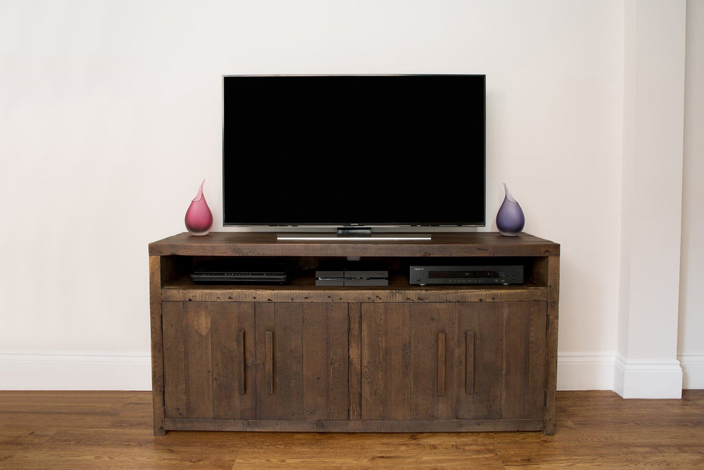 "Classic 151.5cm Tv Cabinet With Long Wooden Handles (Displayed With 48"" TV)"