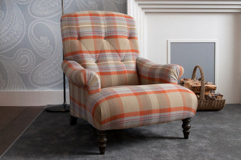 Balmoral Check Fabric In Copper Colour