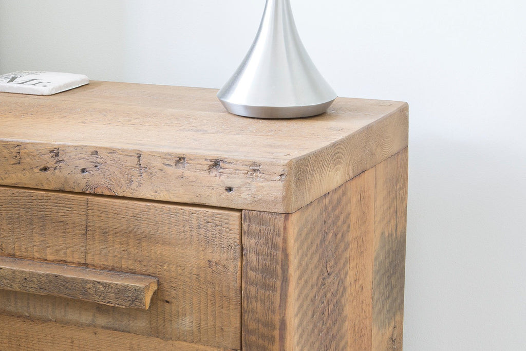 Warm 2 Drawer Bedside Table With Detail