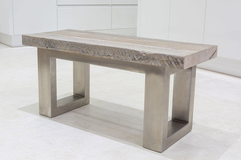 Grey 100cm End Bench