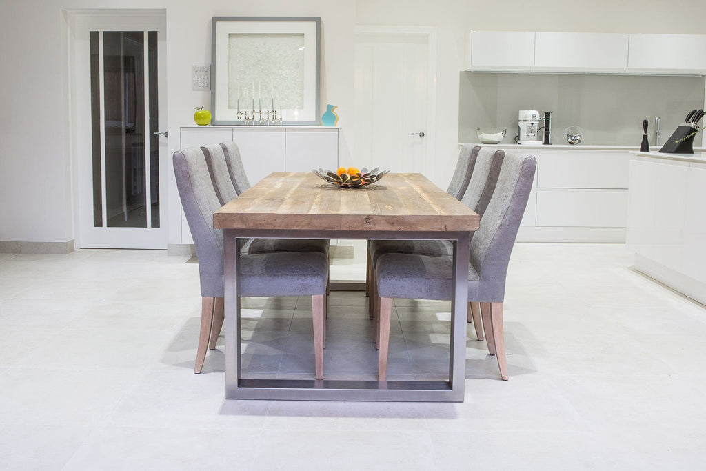 Natural 223cm Short Overhang Table with Annabel Chairs