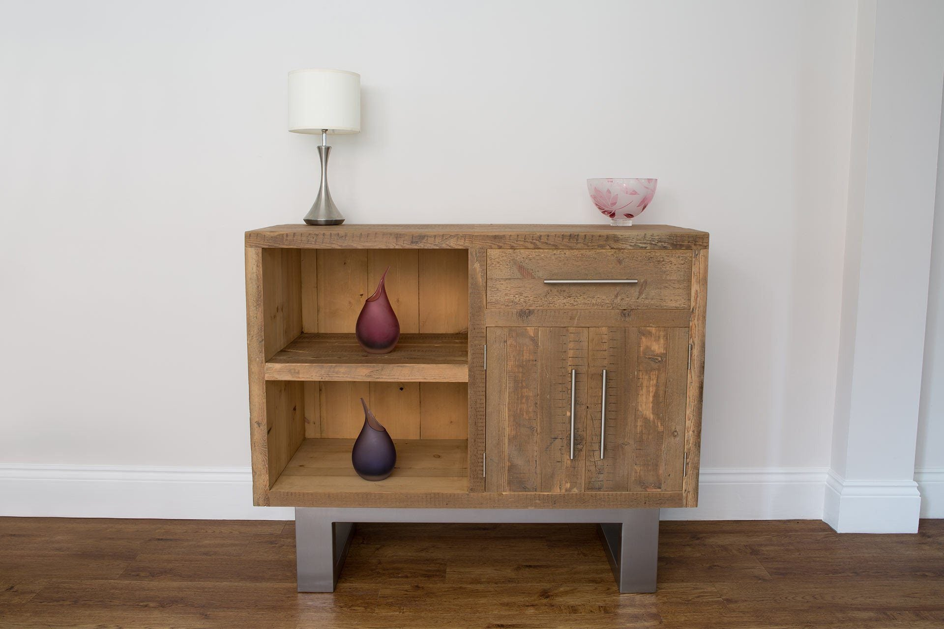 Natural 116.5cm Sideboard With Bar Handles
