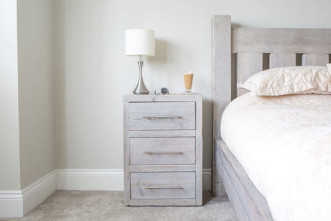 Rustic Bedside Tables Reclaimed Solid Wood Eat Sleep Live